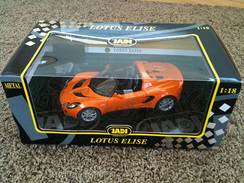 New JADI 1/18 Chrome Orange Elise Die Cast Model - LotusTalk - The ...