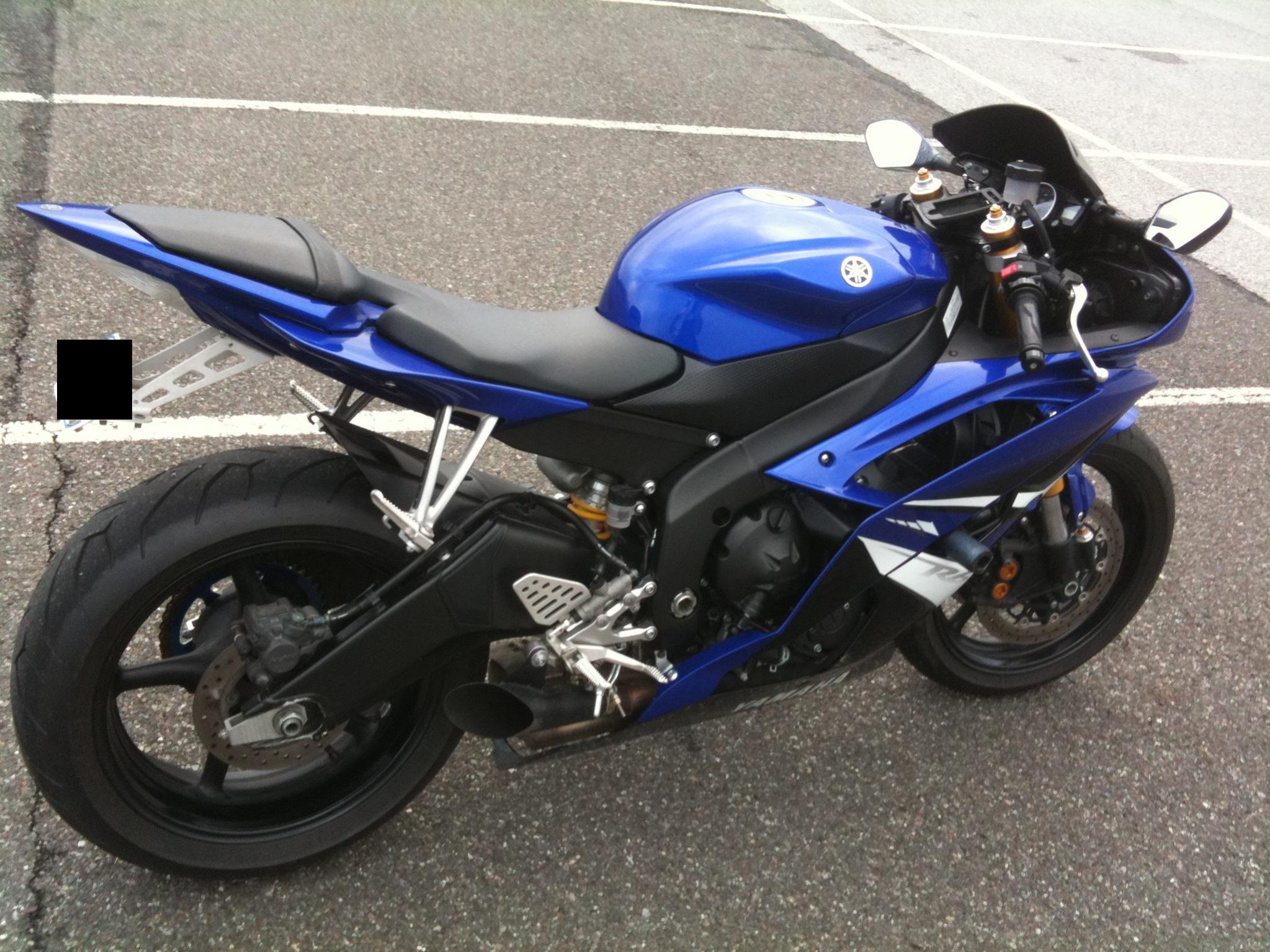 FS 2008 Yamaha YZF R6 Blue 64k Mi Sport Bike Custom Integrated Attachment Fs