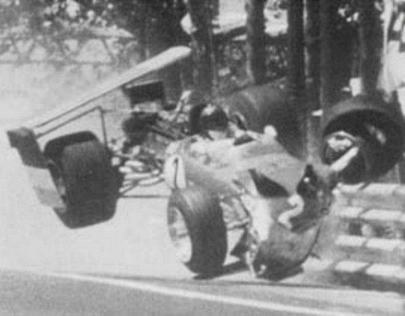 formula 1 crash with tractor