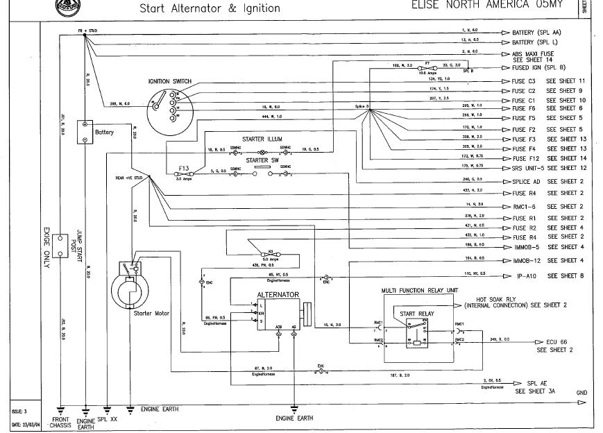 Alternator Harness Schematic  - Lotustalk
