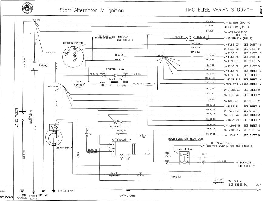 Alternator harness schematic   LotusTalk  The Lotus Cars
