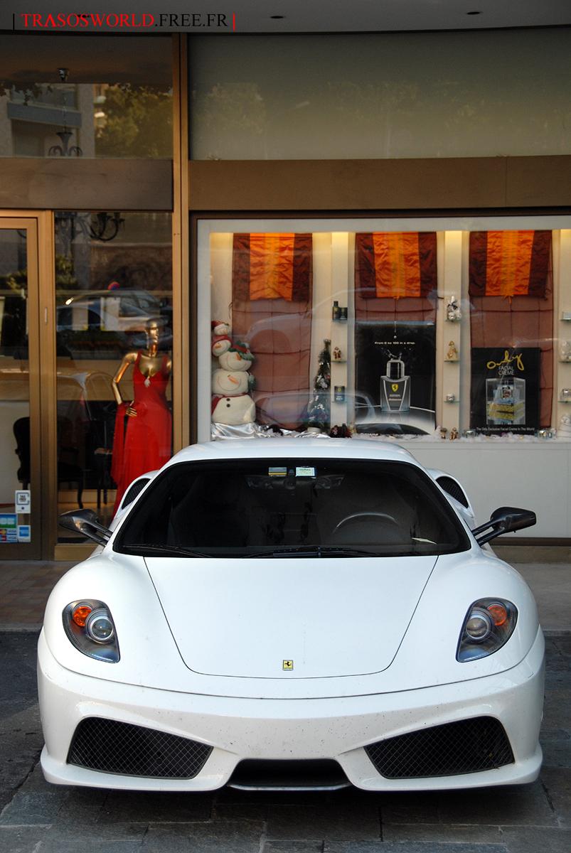 White Ferrari F430 Scuderia.