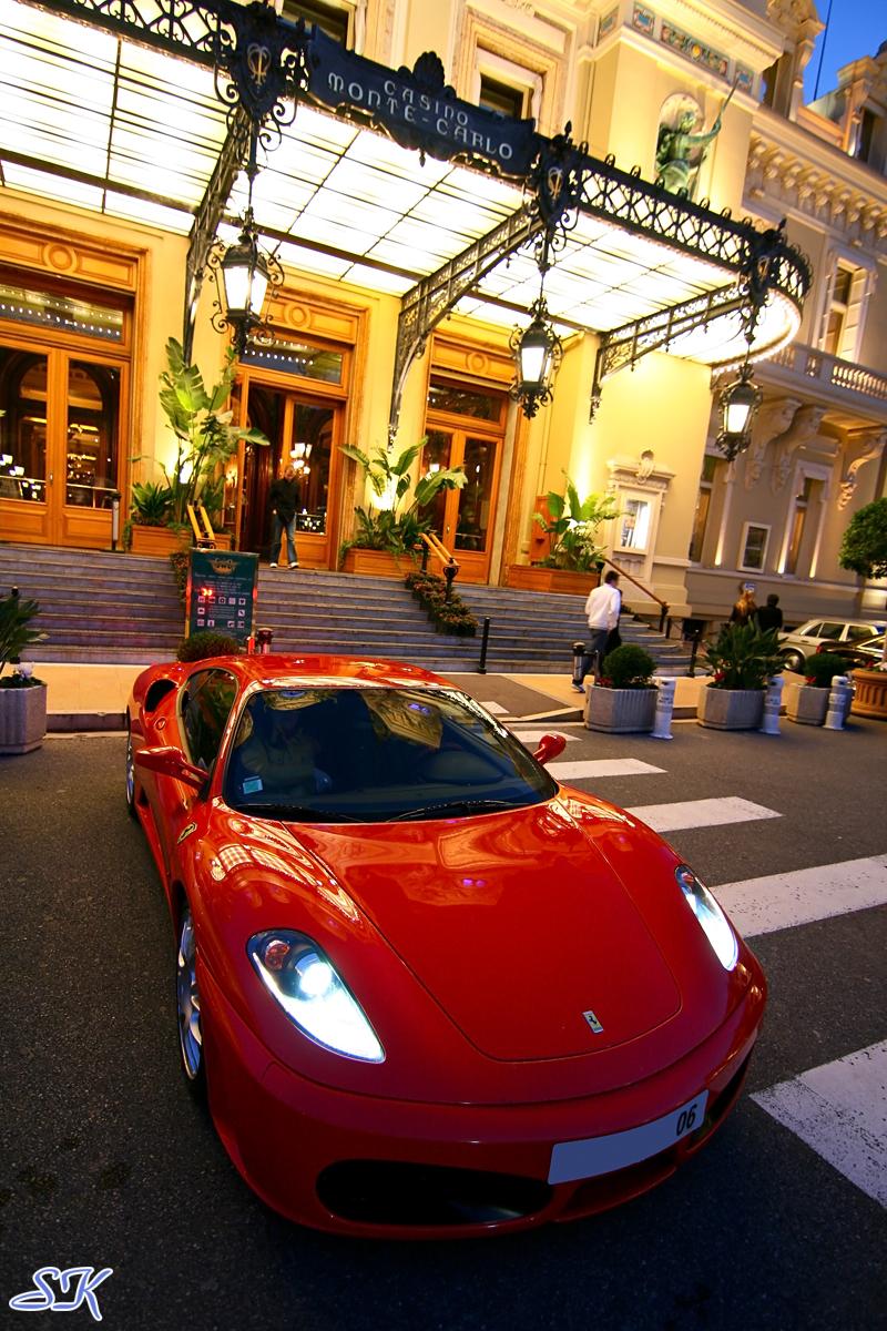 Ferrari at Casino Monte Carlo.