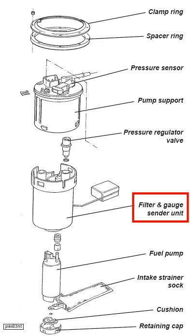 2005 Toyota Corolla Fuel Filter Location