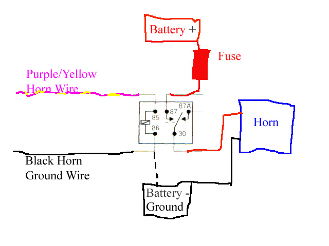 Car Horn Wiring Diagram from www.lotustalk.com