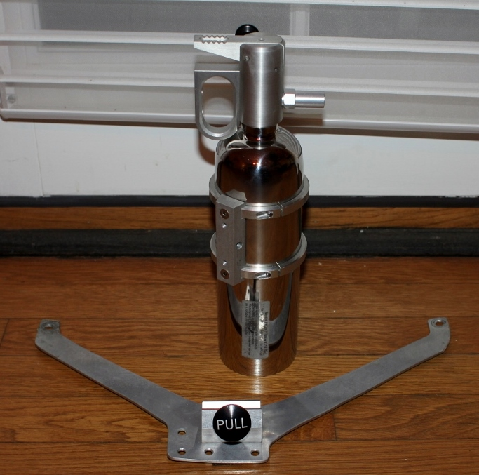 Polished Fire Extinguisher & Bracket