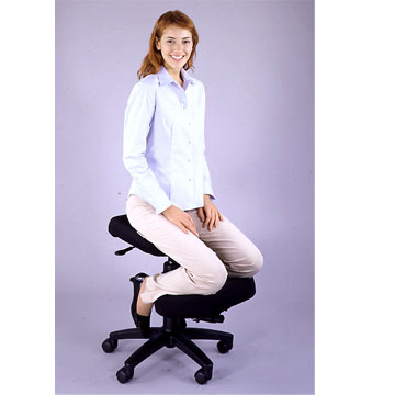 Desk chair kneel back - riding pillow wmv