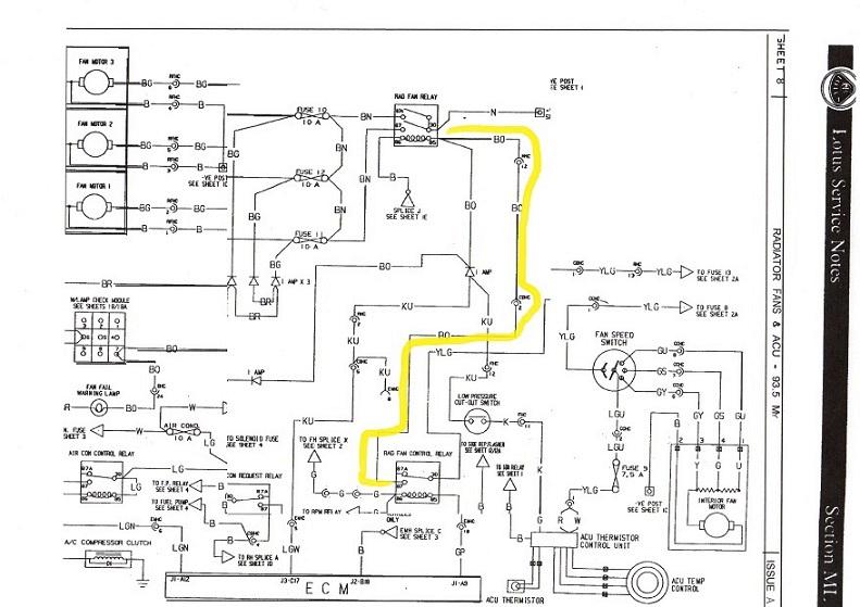 89 Esprit SE cooling fan diagram | The Lotus Cars CommunityLotus Talk