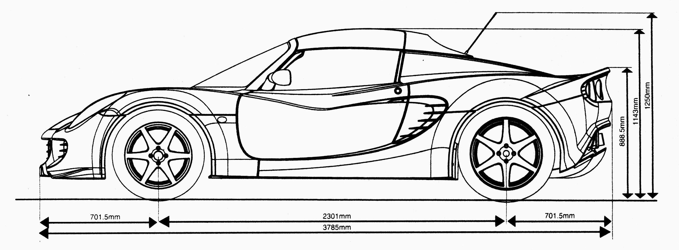 Muscle Car Drawings Side View