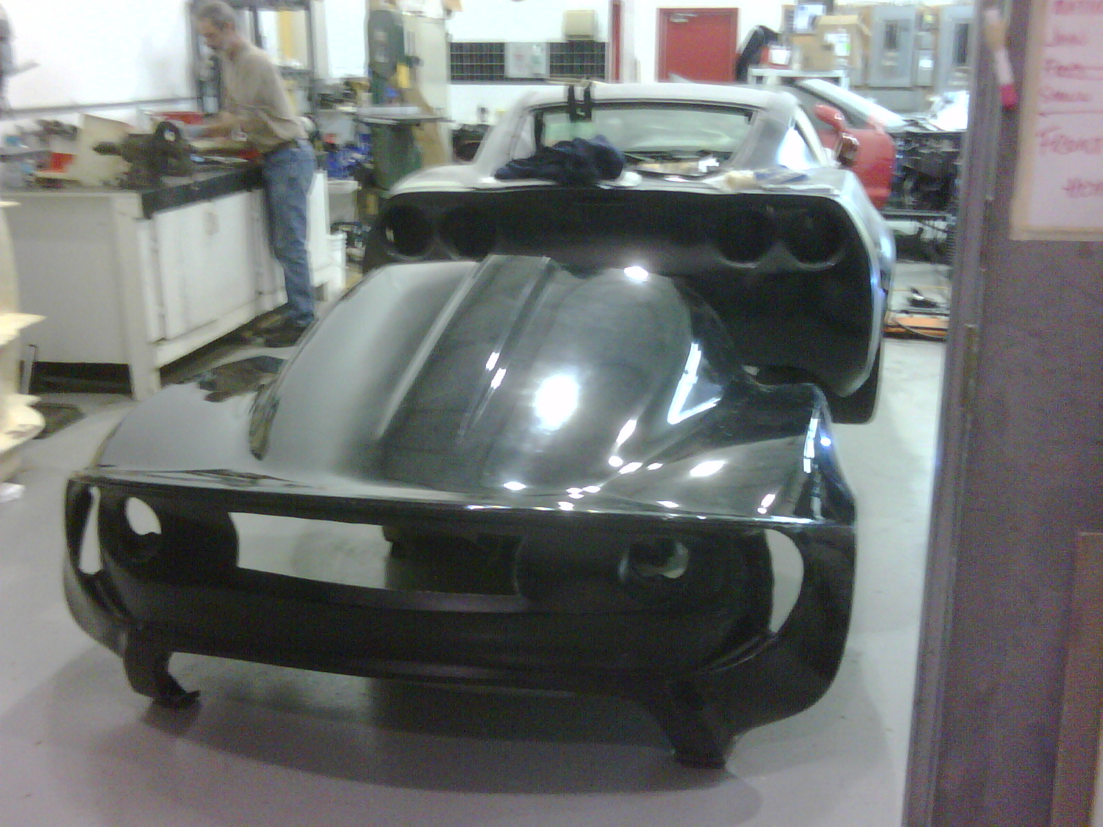 Wide rear clam made from