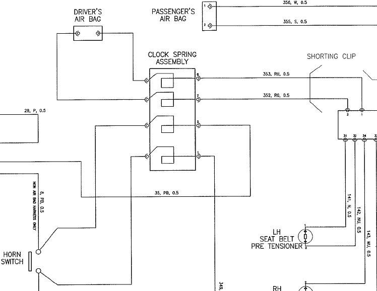 Wiring Diagram, Elise Stock Steering Wheel/Airbag - LotusTalk - The