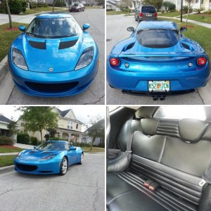 2010 Lotus Evora 2+2 Laser Blue