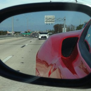 GTR in my rear view mirror. But not for long :)