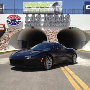 The new Evora at Las Vegas Motor Speedway