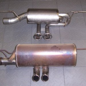 Stock V Borla Exhaust