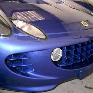 Painted Blue Grills, Front