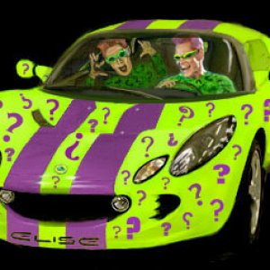 Elise Krypton with the Riddler