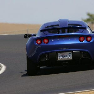 Magnetic Blue Exige S At Thunderhill Raceway