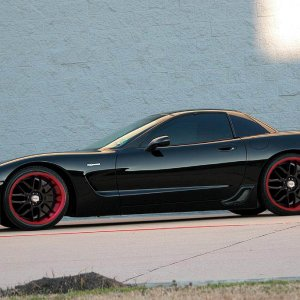 Corvette With New Rims