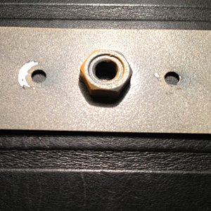 Battery Hold Down Nut Plate.