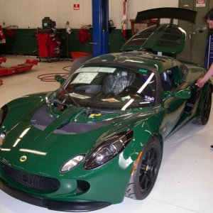 British Racing Green Exige
